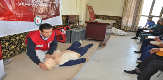 First aid course in cooperation with the Faculty of Tourism Sciences - Karbala University