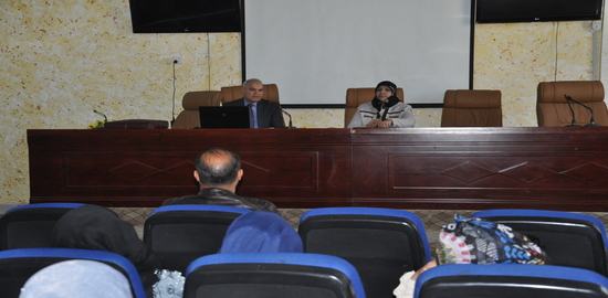 A lecture on AIDS methods of infection and preventionNdmt Faculty of Tourism Sciences and in cooperation with the educational guidance in the college and represented with Dr. Susan Silverline Dahi Ghanimi on Wednesday 6 th / 3/2019 scientific awareness lecture titled ((AIDS, modes of transmission and prevention)) delivered by Dr. Laith Hassoun Merza of the Health Department of Karbala / FSM public Health / Division control of AIDS, the lecture was attended by Prof. Dr. Makki Abdul Majid al-Rubaie, Dean of the Faculty of tourism Sciences and Assistant professor Dr. Nadia Saleh Mahdi al-Waeli and a number of professors and college students. the lecture included a detailed explanation about the definition of AIDS and symptoms And the effects that accompany the Z and early detection in addition to the statement of modes of transmission from infected people to people sound and the most important tools that can help spread and how to take preventive measures that limit the spread and prevention, and touched on the lecture about some tools that can be one of the reasons for the transmission disease and widespread in our society, the most important beauty centers, non-licensed by the Ministry of Health in addition to cupping centers, which are used Aladawat that is possible to convey the disease, and at the end of the lecture, Mr. Dean of the Faculty of tourism Sciences presented a letter of appreciation and shield College tourism Science to Dr. Lee Hassoun Merza distinctive for his efforts to educate the university community.