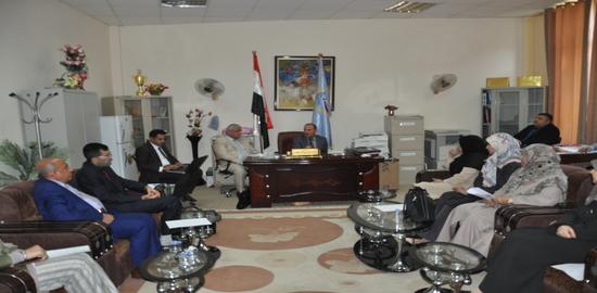 اجتماع السيد عميد كلية العلوم السياحية مع قسم ادارة المؤسسات الفندقية