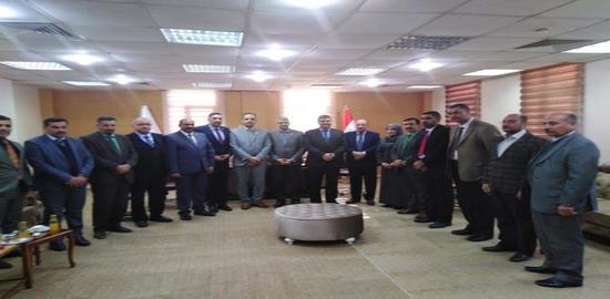 حضور الاستاذ الدكتور مكي عبد مجيد الربيعي في افتتاح نقابة الأكاديميين العراقيين